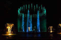 Colorful musical fountain Stock Photography