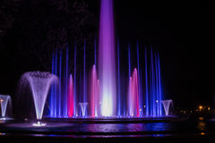 Colorful musical fountain Royalty Free Stock Photos