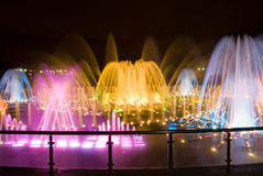 Colorful Musical Fountain in Moscow Royalty Free Stock Images