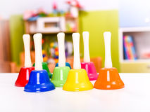 Colorful Musical Hand  Bells Stock Photo