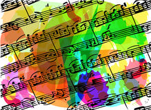 Colorful musical notes book illustration Royalty Free Stock Photos