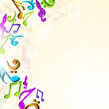 Colorful musical notes. Stock Photo