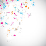 Colorful musical notes. Royalty Free Stock Photography