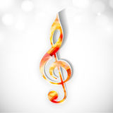 Colorful musical sign on shiny background. Royalty Free Stock Images