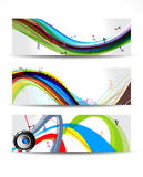 Colorful Musical Wave Banner Royalty Free Stock Photos