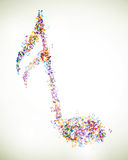 Colorful Musicnotes Royalty Free Stock Images