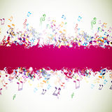 Colorful Musicnotes Stock Photography
