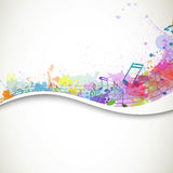 Colorful Musicnotes Stock Image