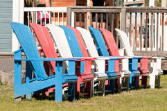 Colorful Muskoka chairs Stock Images
