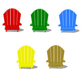 Colorful Muskoka Chairs Stock Photography