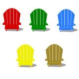 Colorful Muskoka Chairs stock photography