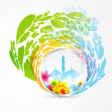 Colorful muslim mosque Royalty Free Stock Images