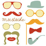 Colorful mustache party Royalty Free Stock Images