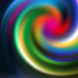 Colorful mystic spiral Stock Images