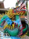 Colorful mythical dragon statue Stock Image