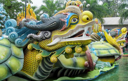 Colorful mythical dragon statue Stock Photography