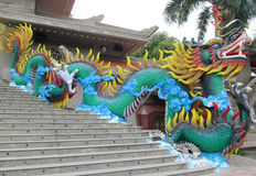 Colorful mythical dragon statue in Suoi Tien Amusement Park Royalty Free Stock Photos