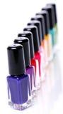 Colorful nail polish Stock Photography