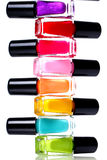 Colorful nail polish Stock Photos