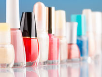 Colorful nail polish Royalty Free Stock Photography