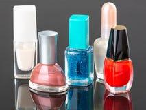 Colorful nail polish Stock Images