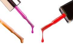 Colorful nail polish applicators Royalty Free Stock Image
