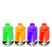 Colorful nail polish bottle. Isolated on white Stock Photography