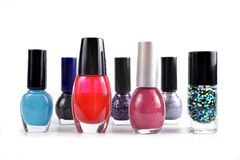 Colorful nail polish bottle. Royalty Free Stock Image