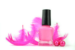 Colorful Nail Polish Bottles Royalty Free Stock Photography