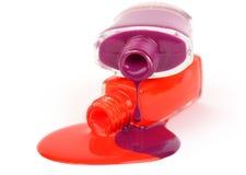 Colorful nail polish Stock Photos