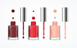 Free Colorful Nail Polish Open Bottle Set. Vector Stock Image - 75796781