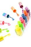 Colorful nailpolish Stock Images