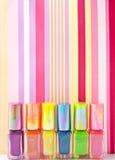 Colorful nailpolish Stock Photo