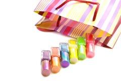 Colorful nailpolish Royalty Free Stock Images