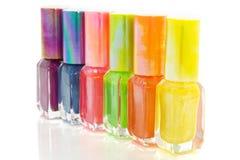 Colorful nailpolish Stock Photography