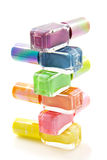 Colorful nailpolish Royalty Free Stock Images