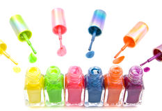 Colorful nailpolish Stock Photos