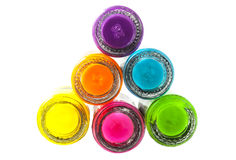 Colorful nailpolish Royalty Free Stock Photography