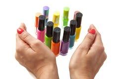 Colorful nailpolish Stock Photos