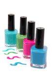 Colorful nailpolish Royalty Free Stock Image