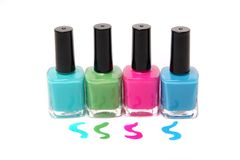 Colorful nailpolish Stock Photo