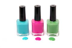 Colorful nailpolish Stock Image
