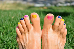 Colorful nails Stock Photography
