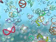 Colorful nanotubes graphic. Colorful nanotubes in suspension graphic illustration vector illustration