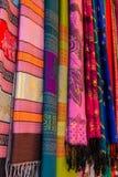 Colorful of Thai silk Stock Photo