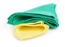Colorful napkins Stock Photo