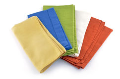 Colorful napkins Royalty Free Stock Photos