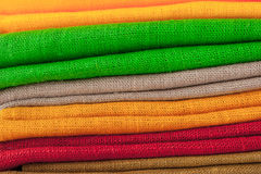 Colorful napkins  background  horizontal Royalty Free Stock Image
