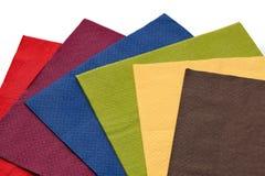 Colorful napkins Royalty Free Stock Photos