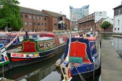 Colorful narrow boat Royalty Free Stock Photo
